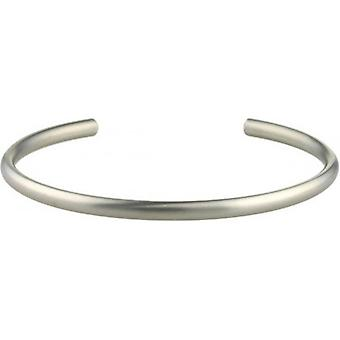 Ti2 Titanium 4mm Wide Court Torc Bangle - Matte Silver