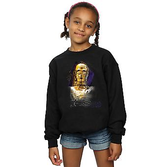 Star Wars Girls The Last Jedi C-3PO Brushed Sweatshirt