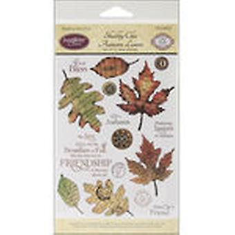 Justrite Stampers Clear Stamp Set Shabby Chic Autumn Leaves 15Pc Cr03870
