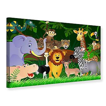 Canvas Print Jungle koning