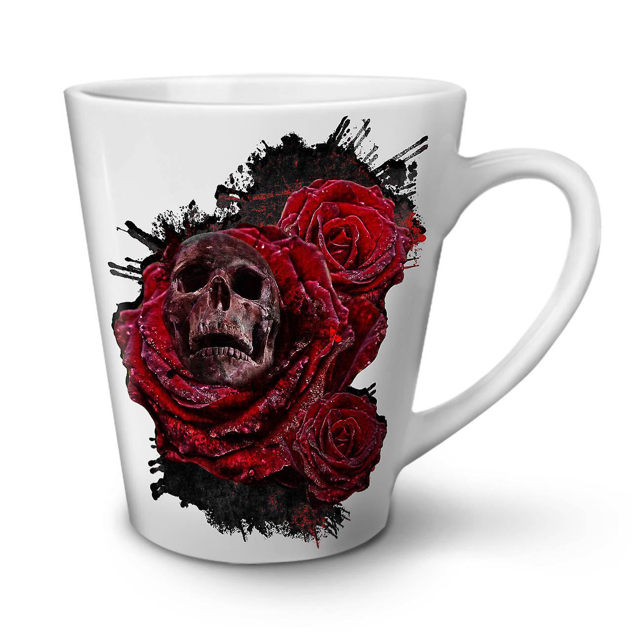 Métal Latte OzWellcoda Fleur En Céramique Nouvelle 12 Café Blanche Rose Tasse UVGpSzqM