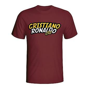 Cristiano Ronaldo Comic Book T-shirt (maroon) - Kids