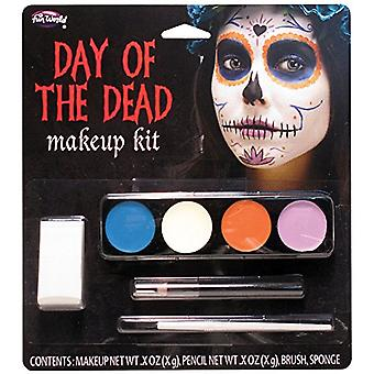 Halloween Day of the Dead Ghost Girl Face Paint Make Up Kit