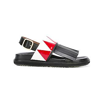 Marni women's FBMSW08G01LV691ZI945 black leather sandals