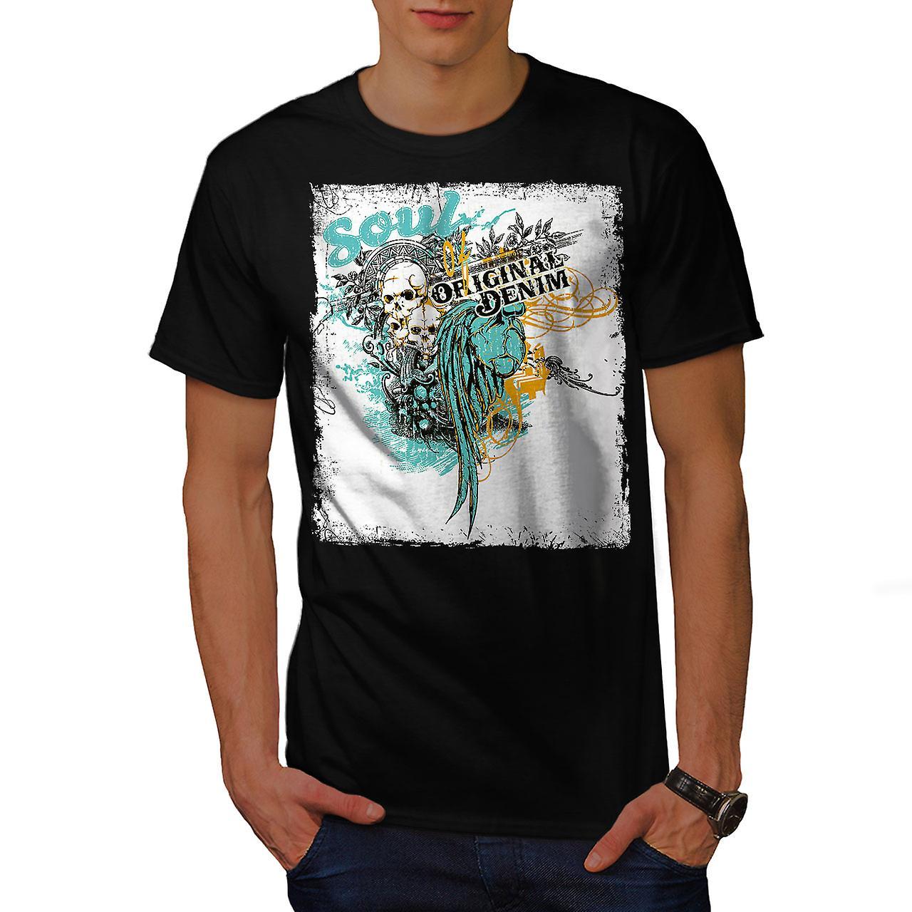 Original Art Dead Fashion Men Black T-shirt | Wellcoda
