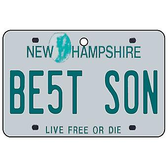 New Hampshire - Best Son License Plate Car Air Freshener