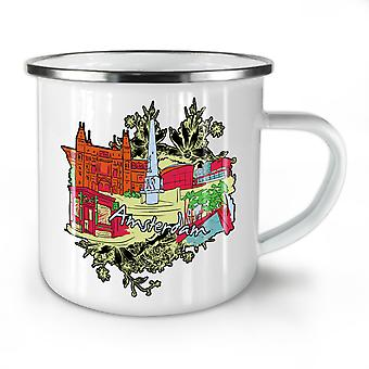42 Weed NEW WhiteTea Coffee Enamel Mug10 oz | Wellcoda