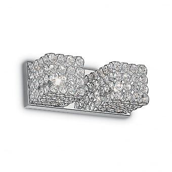 Ideal Lux Admiral Twin Crystal Wall Cube Light