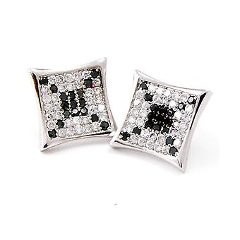 Sterling 925 Silver MICRO PAVE earrings - SUN 12 mm