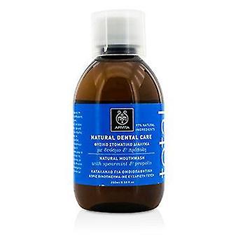 Apivita Total Natural Mouthwash With Spearmint & Propolis - 250ml/8.5oz
