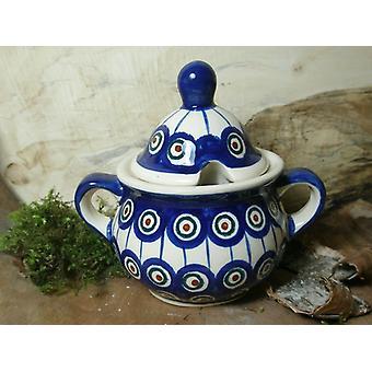 Sugar Bowl, 2nd choice, Bunzlau pottery, traditional 13 - BSN 10041