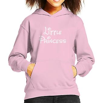 Little Princess Disney Style Font Kid's Hooded Sweatshirt