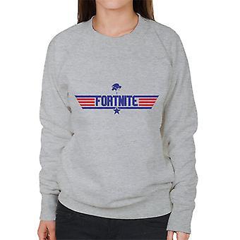 Fortnite Top Gun Logo Mix Damen Sweatshirt