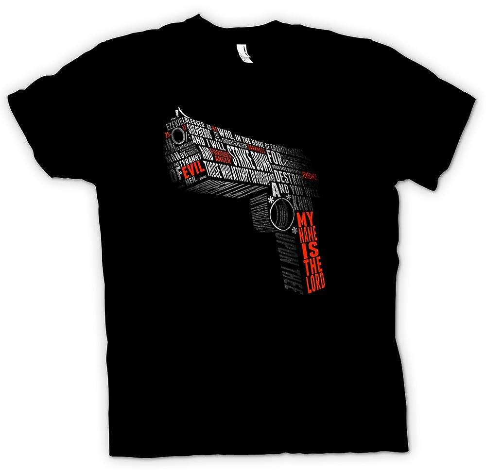 Womens T-shirt - Pulp Fiction - Quotes - Gun vorm