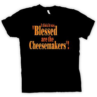Mens T-shirt - Blessed Are The Cheesemakers - Funny Quote