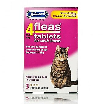 Johnsons 4 tablet nemlig Katte & killing, 3 tabletter