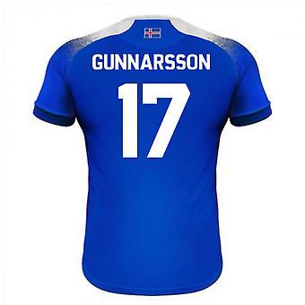 Maillot de foot domicile Errea 2018-2019 Islande (Gunnarsson 17)