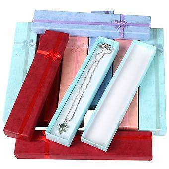 TRIXES 10 x Elegant Luxury Long Rectangular Necklace Gift Boxes