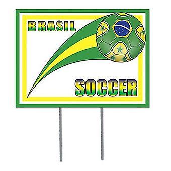Jardin de football Brésil signe
