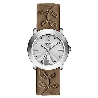 s.Oliver women's watch wristwatch leather SO-3315-LQ
