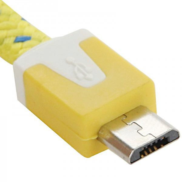 2m USB data and charging cable yellow for all Smartphone and Tablet micro USB