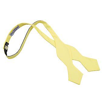 Vaalea keltainen Chambray puuvilla totesi itse Tie rusetti