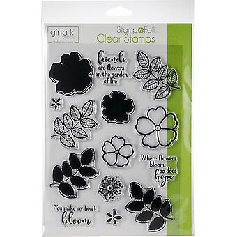 Gina K Designs Clear Stamps-Where Flowers Bloom