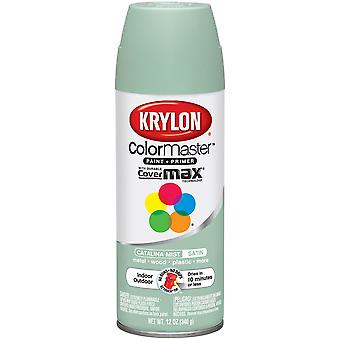 Colormaster Indoor/Outdoor Aerosol Paint 12oz-Satin Catalina Mist