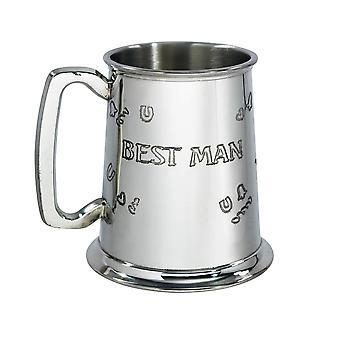 Best Man 1 Pint Pewter Tankard