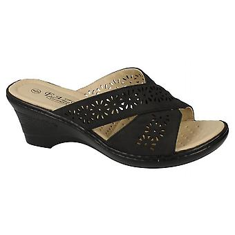 Eaze Womens/Ladies Mid Wedge Mules