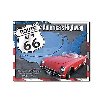 Route 66 1926 - 1985 Metal Sign