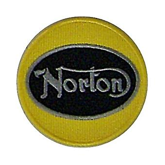 Norton Yellow redonda Sew-em bordado Patch