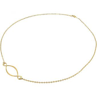 Ladies - necklace - pendant - 925 Silver - gold plated - 50 cm