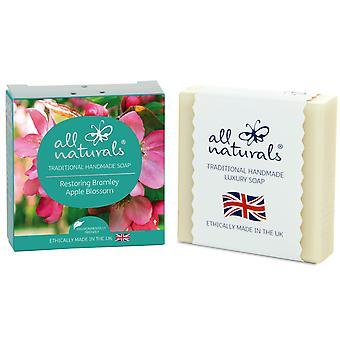 All Naturals Organic Soap Bar  Apple Blossom 100g
