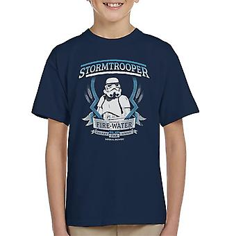 T-shirt original Stormtrooper fogo água infantil