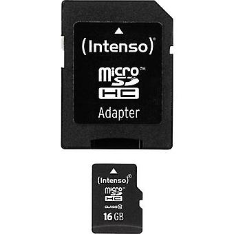 Intenso High Performance MicroSDHC-Karte 16 GB Class 10 inkl. SD adapter