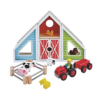 Hape-Barn Play-wooden Playset