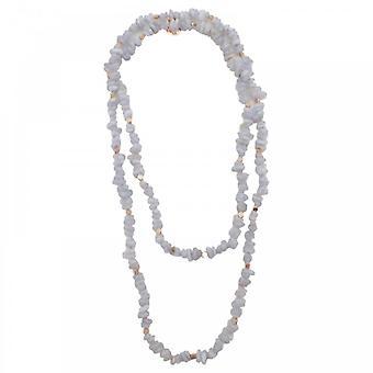 Bcharmd Zara Bluelace Agate Long Necklace