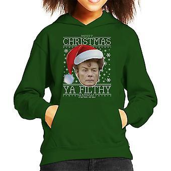 Merry Christmas Ya Filthy Animal Gary Glitter Kid's Hooded Sweatshirt