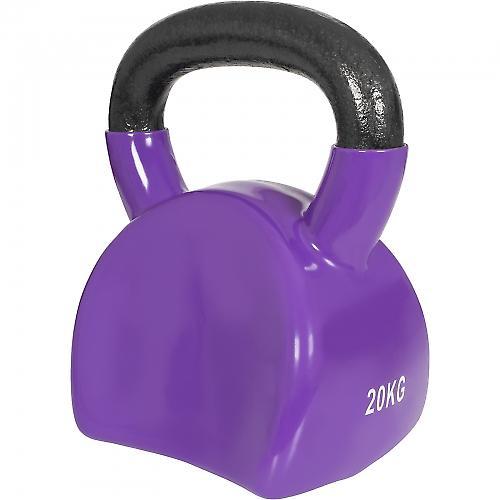 Ergonomique kettlebell en fonte avec revetement en vinyle de 20kg