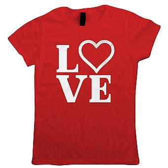 LOVE Heart Letters, Womens T Shirt