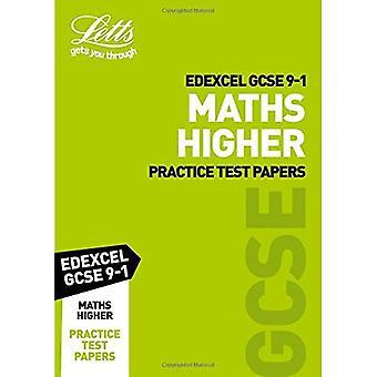 Edexcel GCSE Maths Higher Practice Test Papers - Letts GCSE 9-1 Revision Success (Paperback)