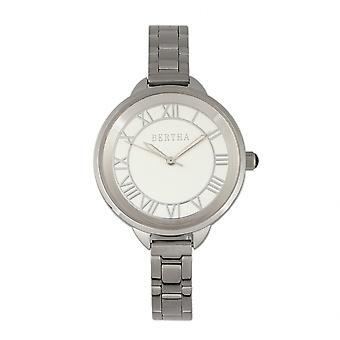 Bertha Madison Sunray Dial Bracelet Watch - Silver