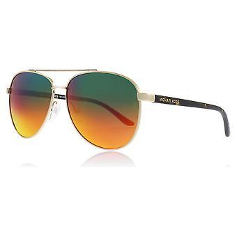 Michael Kors MK5007 1212A8 Licht Gold Hvar Piloten Sonnenbrille Objektiv Kategorie 3 Objektiv gespiegelt Größe 59mm