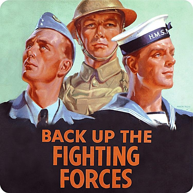 Back Up The Fighting Forces drinks mat / coaster  (hb)
