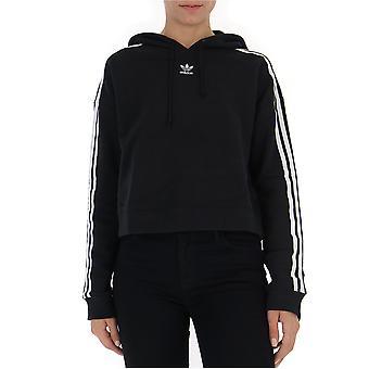 Adidas Black Cotton Sweatshirt