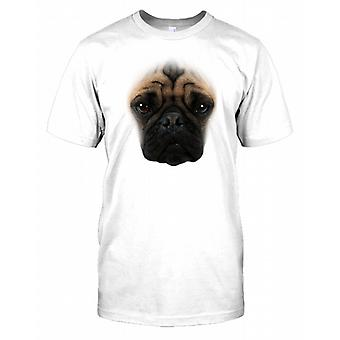 Pug Pedigree Dog Face Kids T Shirt