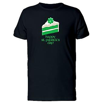 St Patricks Day Green Cake Tee Men's -Image by Shutterstock