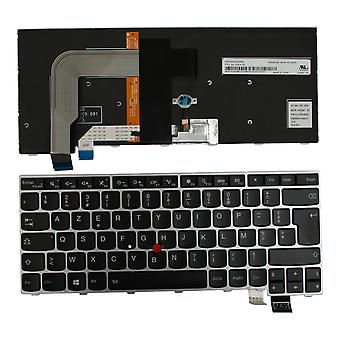 Lenovo SN20L82088 Silver Frame Backlit Black Windows 8 French Layout Replacement Laptop Keyboard