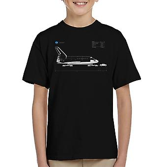 NASA Space Shuttle Gewicht diagnostische Kinder T-Shirt